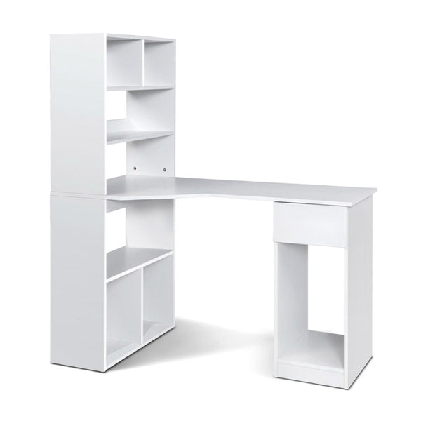 Artiss Office Computer Desk Student Study Table Home Workstation Corner Shelf