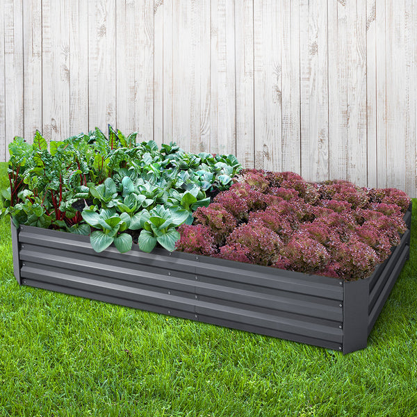Greenfingers Garden Bed 2PCS 210X90X30cm  Galvanised Steel Raised Planter