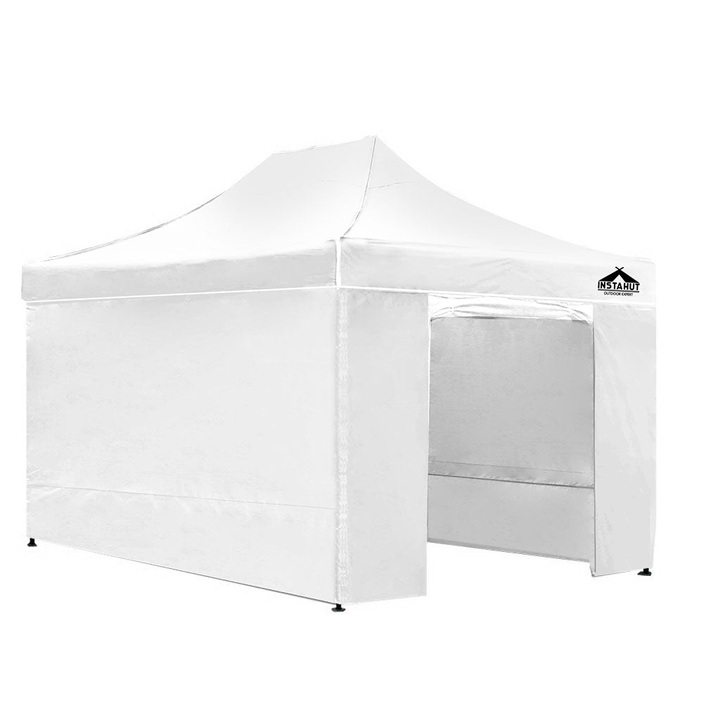 Instahut Gazebo Pop Up Marquee 3x4.5m Folding Wedding Tent Gazebos Shade White