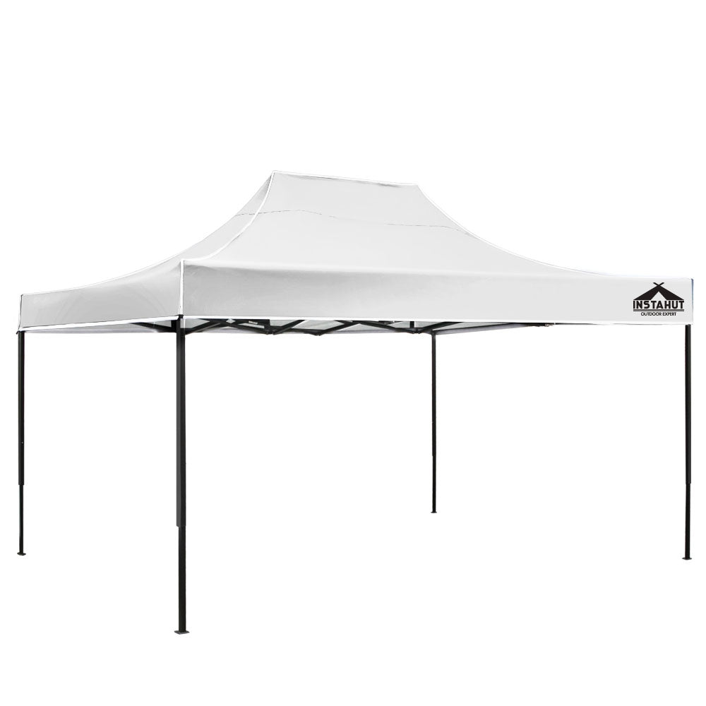 Instahut Gazebo Pop Up Marquee 3x4.5m Outdoor Tent Folding Wedding Gazebos White