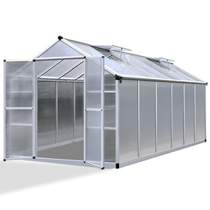 Greenfingers Greenhouse Aluminium Green House Garden Shed Greenhouses 3.7x2.5M