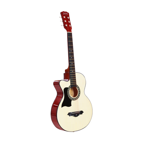ALPHA 38 Inch Wooden Acoustic Guitar Left handed - Natural Wood