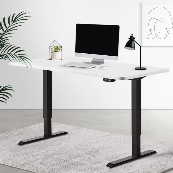 Artiss Standing Desk Motorised Electric Sit Stand Table Riser Computer Laptop Desks Black White
