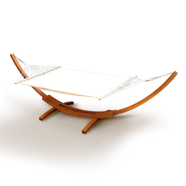 Gardeon Double Hammock with Wooden Hammock Stand