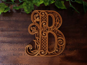 LETTER B – LAYERED ALPHABET