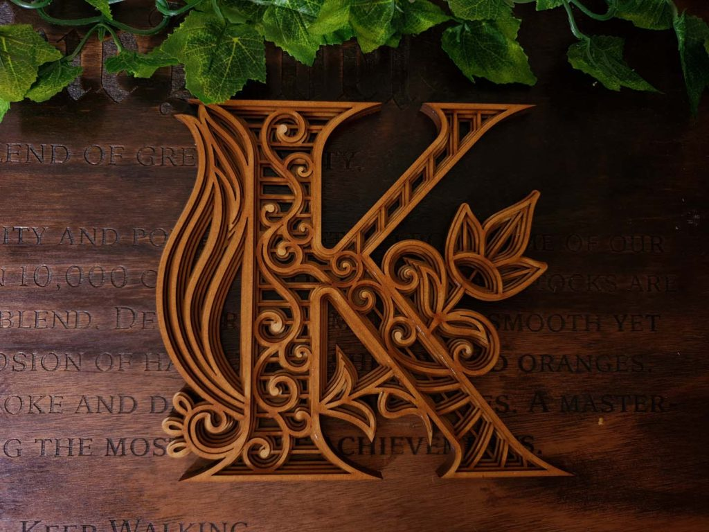 LETTER K – LAYERED ALPHABET