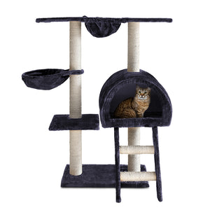 i.Pet Cat Tree 100cm Trees Scratching Post Scratcher Tower Condo House Furniture Wood Feline