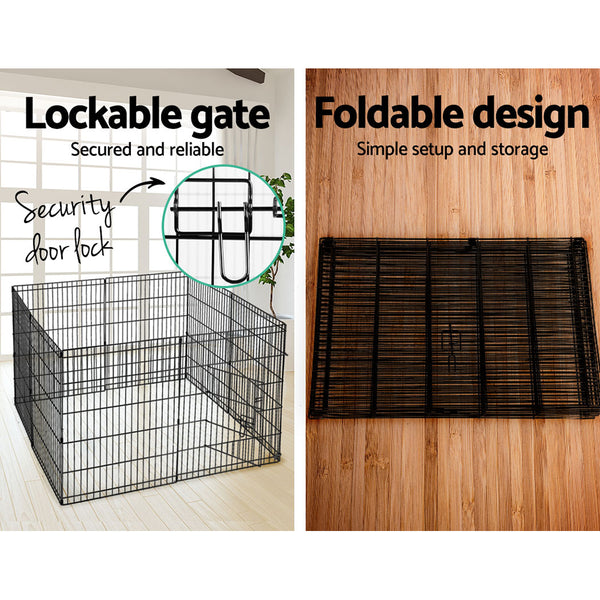 i.Pet 30 8 Panel Pet Dog Playpen Puppy Exercise Cage Enclosure Play Pen Fence""