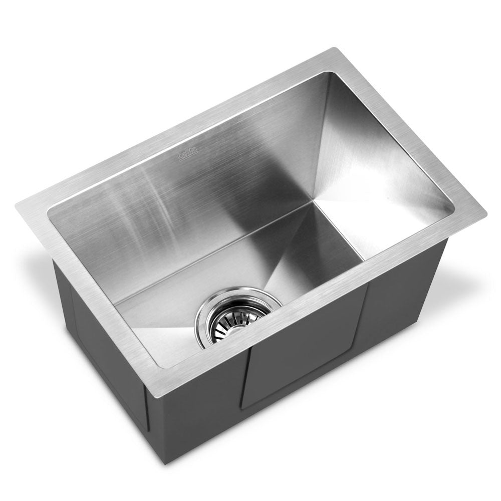 Cefito Stainless Steel Kitchen Sink 450X300MM Under/Topmount Sinks Laundry Bowl Silver