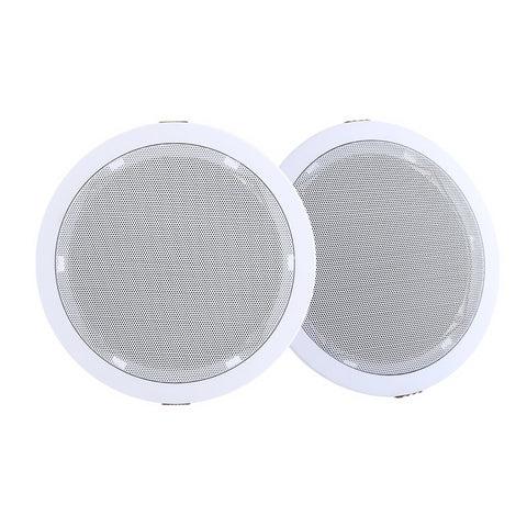2 x 6 In Ceiling Speakers Home 80W Speaker Theatre Stereo Outdoor Multi Room""