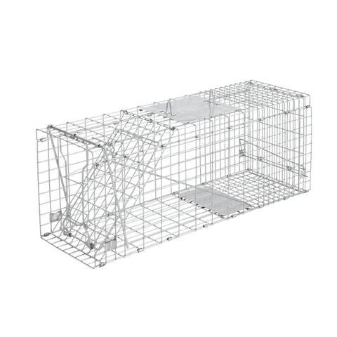 Set of 2 Humane Animal Trap Cage 66 x 23 x 25cm  - Silver