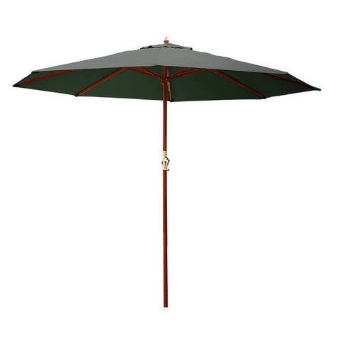 Instahut Umbrella Outdoor Pole Umbrellas Stand Sun Beach Garden Deck Charcoal 3M
