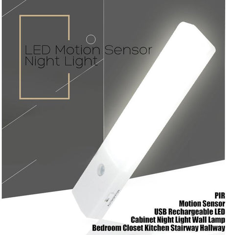 EL608 Rechargeable Infrared Motion Sensor Wall LED Night Light Torch (Warm White)