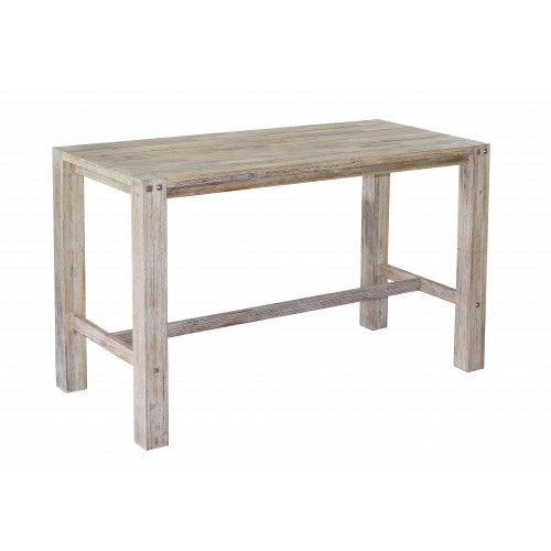 Sturdy 1.8 Metre Bar table White Brush Finish