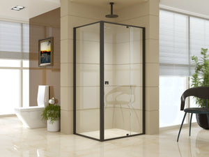 Semi Frameless Shower Screen (98~106)x 195cm & (77~80)x 195cm Side AS/NZS Glass