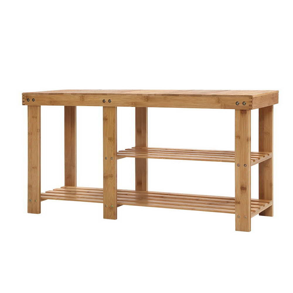 Artiss Bamboo Shoe Rack Bench