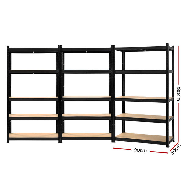 Giantz 3X0.9M Warehouse Shelving Garage Storage Racking Steel Metal Shelves