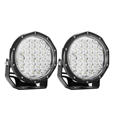 LIGHTFOX 7Inch Led Spot Driving Light Pair Spotlight Lamp Off Road 4WD