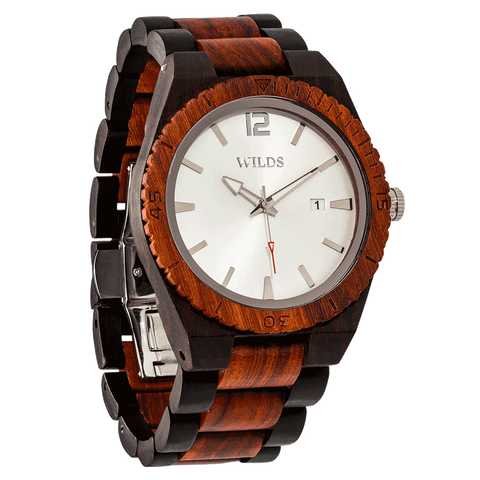 Men Ebony & Rose Wooden Watch