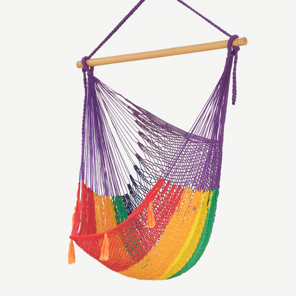 Mexican Hammock Swing Chair Rainbow