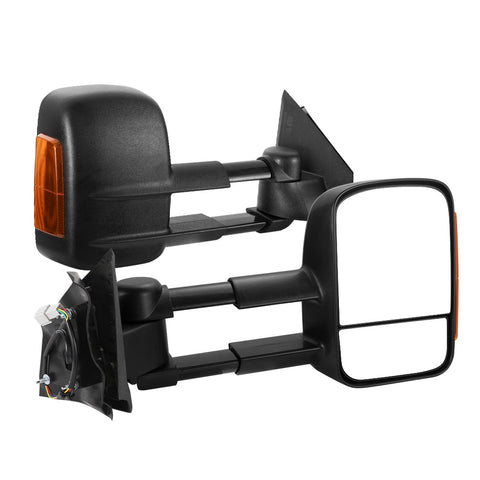 SAN HIMA Pair Towing Mirrors Extendable for Mazda BT-50 2012-ON