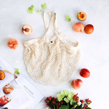 Load image into Gallery viewer, Ever Eco Organic Cotton Net Tote Bag - Long Handle - Body&Abode