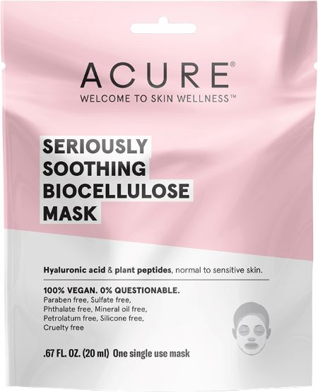 Acure Seriously Soothing Biocellulose Mask (20ml) - Body&Abode