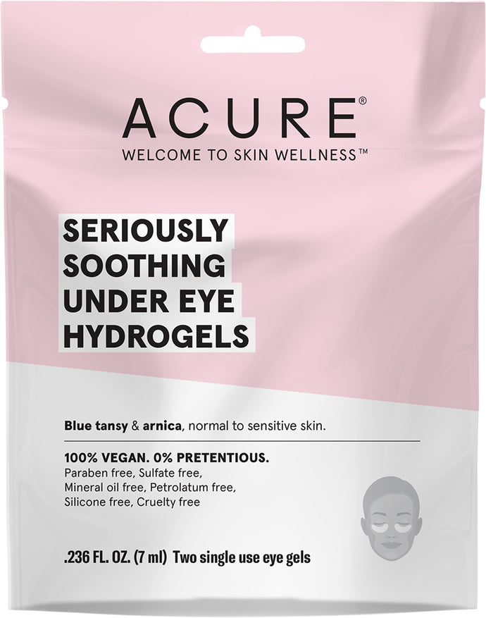 Acure Seriously Soothing Under Eye Hydrogels (7ml) - Body&Abode
