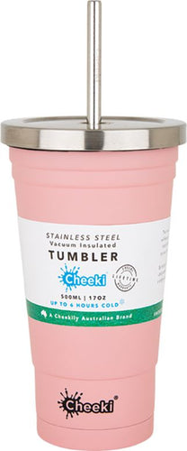 Cheeki Insulated Tumbler 500ml - Pink - Body&Abode