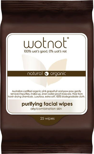 WOTNOT Natural Face Wipes - Deep Cleansing (25 pack) - Body&Abode