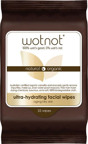 WOTNOT Natural Face Wipes - Ultra-Hydrating (25 pack) - Body&Abode
