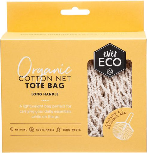 Ever Eco Organic Cotton Net Tote Bag - Long Handle - Body&Abode