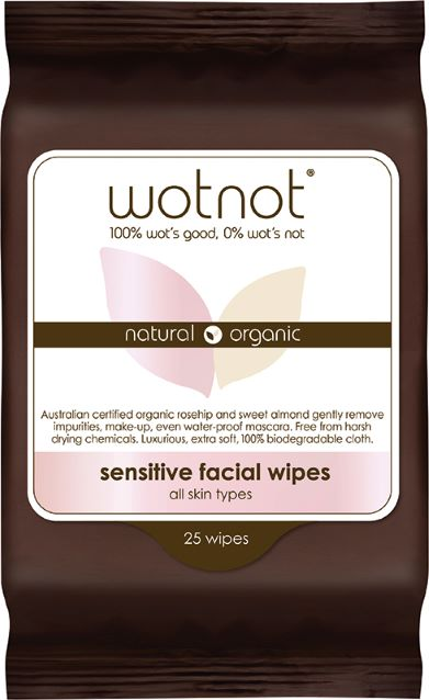 Wotnot Natural Face Wipes - Sensitive (25 pack) - Body&Abode
