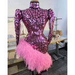 CUSTOM PINK MIRROR DRESS