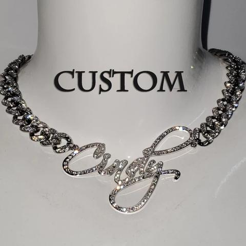 CUSTOM SIGNATURE STAINLESS STEEL NECKLACE