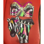 CUSTOM Mesh Jacket Rhinestone Graffiti SET