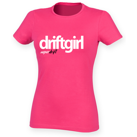 driftgirl. Fushia Ladies Feel Good Tee
