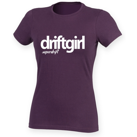 driftgirl. Purple Ladies Feel Good Tee