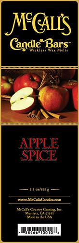 APPLE SPICE Candle Bars-5.5 oz Pack