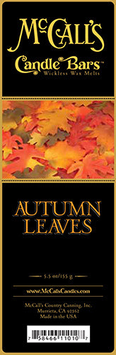 AUTUMN LEAVES Candle Bars-5.5 oz Pack