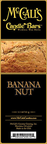 BANANA NUT BREAD Candle Bars-5.5 oz Pack
