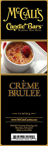 CREME BRULEE Candle Bars-5.5 oz Pack