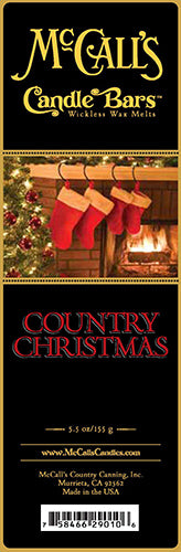 COUNTRY CHRISTMAS Candle Bars-5.5 oz Pack