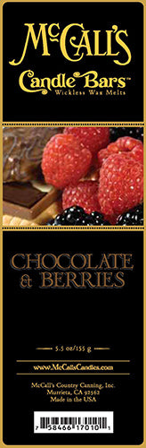 CHOCOLATE and BERRIES Candle Bars-5.5 oz Pack