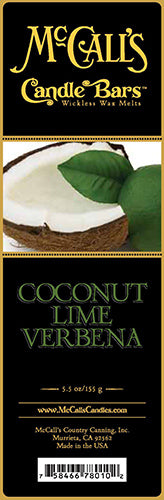 COCONUT LIME VERBENA Candle Bars-5.5 oz Pack