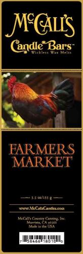 FARMERS MARKET Candle Bars-5.5 oz Pack