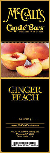 GINGER PEACH Candle Bars-5.5 oz Pack