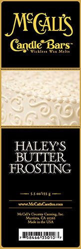 HALEY'S BUTTER FROSTING Candle Bars-5.5 oz Pack