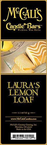 LAURA'S LEMON LOAF Candle Bars-5.5 oz Pack