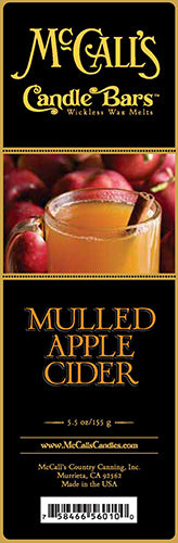 MULLED APPLE CIDER Candle Bars-5.5 oz Pack
